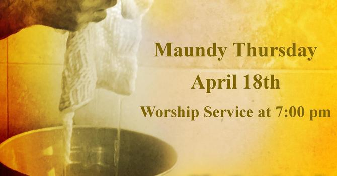 Maundy Thursday Bulletin image
