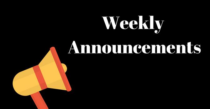 Announcements image