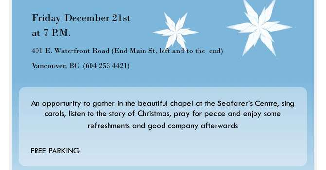 Mission to Seafarers - Christmas Carol Service