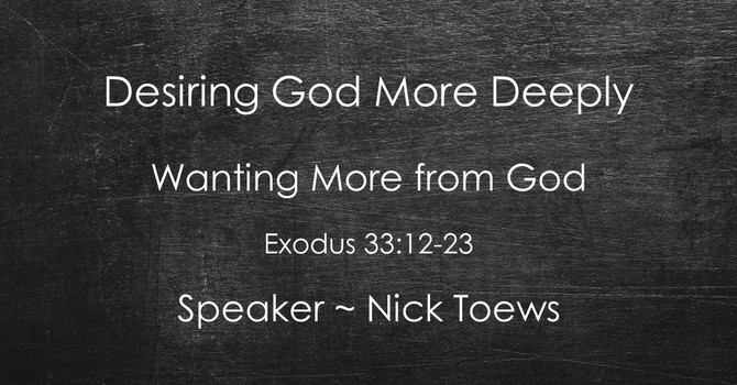 Wanting More from God