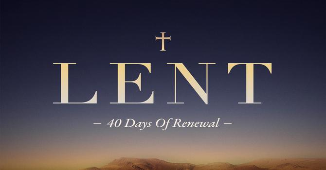 Lenten Reflection image