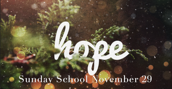 Sunday School - November 29