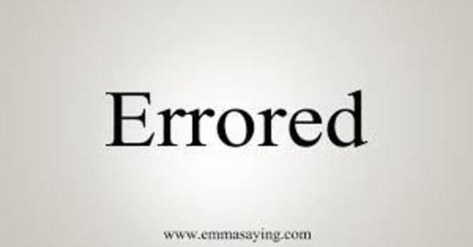 Are You Errored