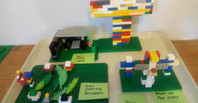 Holy Week begins with Lego image