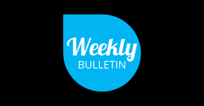 Weekly Bulletin - May 27, 2018 image