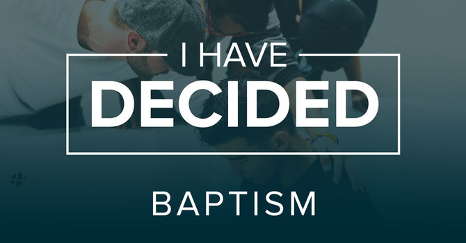 Why Water Baptism