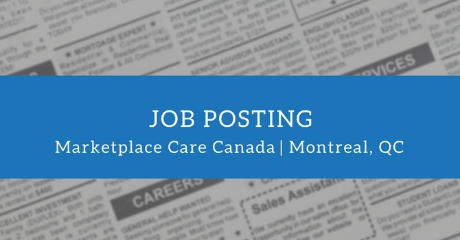 Job Offer: Chaplains with Marketplace Care Canada image