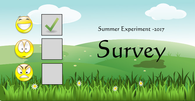 Summer Experiment Survey and Outcome image