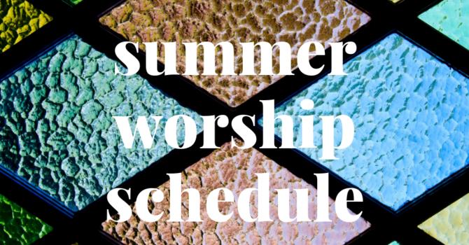 Summer Service Schedule Begins