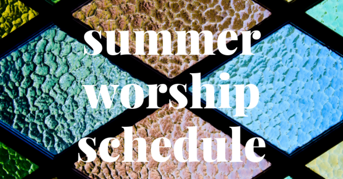 Summer Service Schedule Begins image