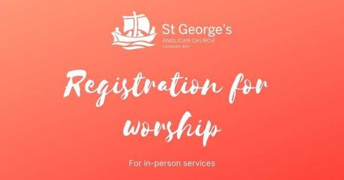 Registration for worship: Sept 6 at 8am image