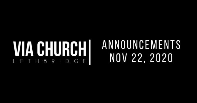Announcements - Nov 22, 2020 image