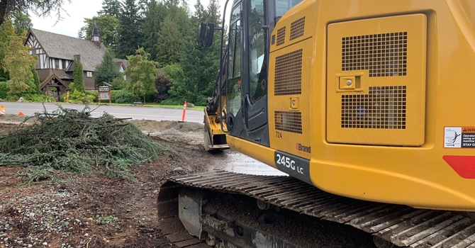 How to get to church during construction! image