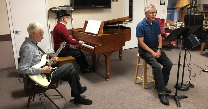 The Elderly Brothers entertain a full house image