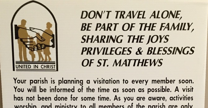 Invitations to our Parish-wide visits are mailed! image