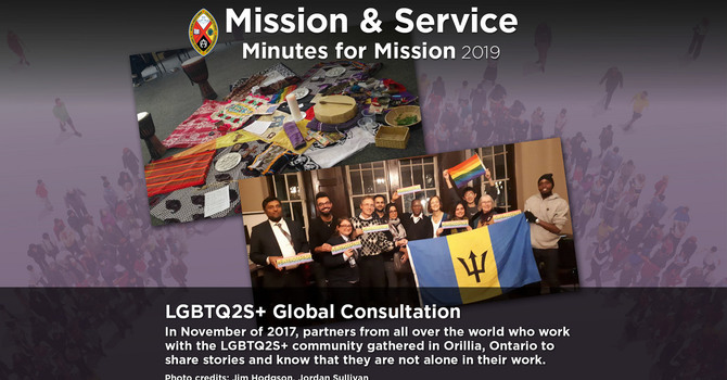 Minute for Mission: LGBTQ Two-Spirit Global Consultation image