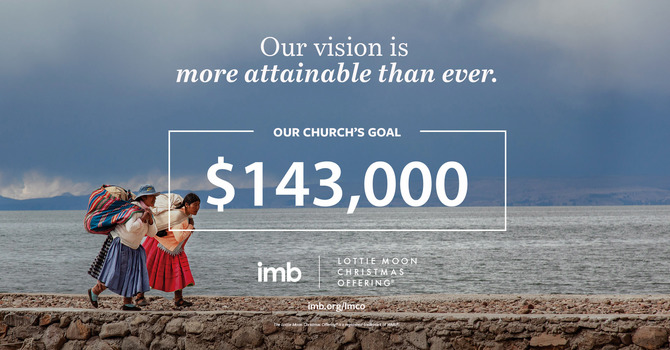 SMRBC Sets $143,000 Goal for the Lottie Moon Christmas Offering image