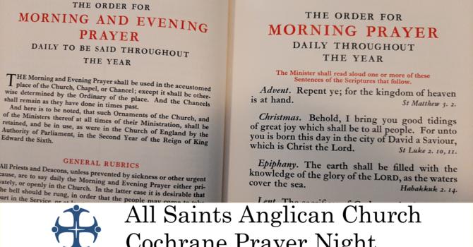Cochrane Prayer Night July 22