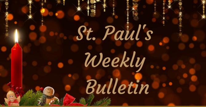 St Paul's November 29th News Bulletin image