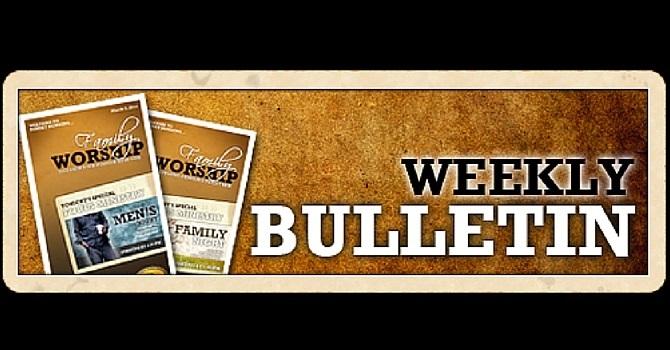 Weekly Bulletin   April 3, 2016 image