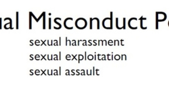Sexual Misconduct Policy Workshops