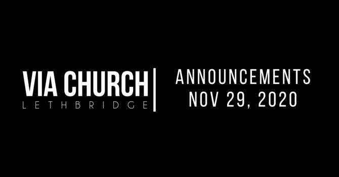 Announcements - Nov 29, 2020 image