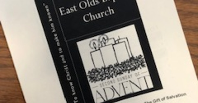 December 9, 2018 Church Bulletin image