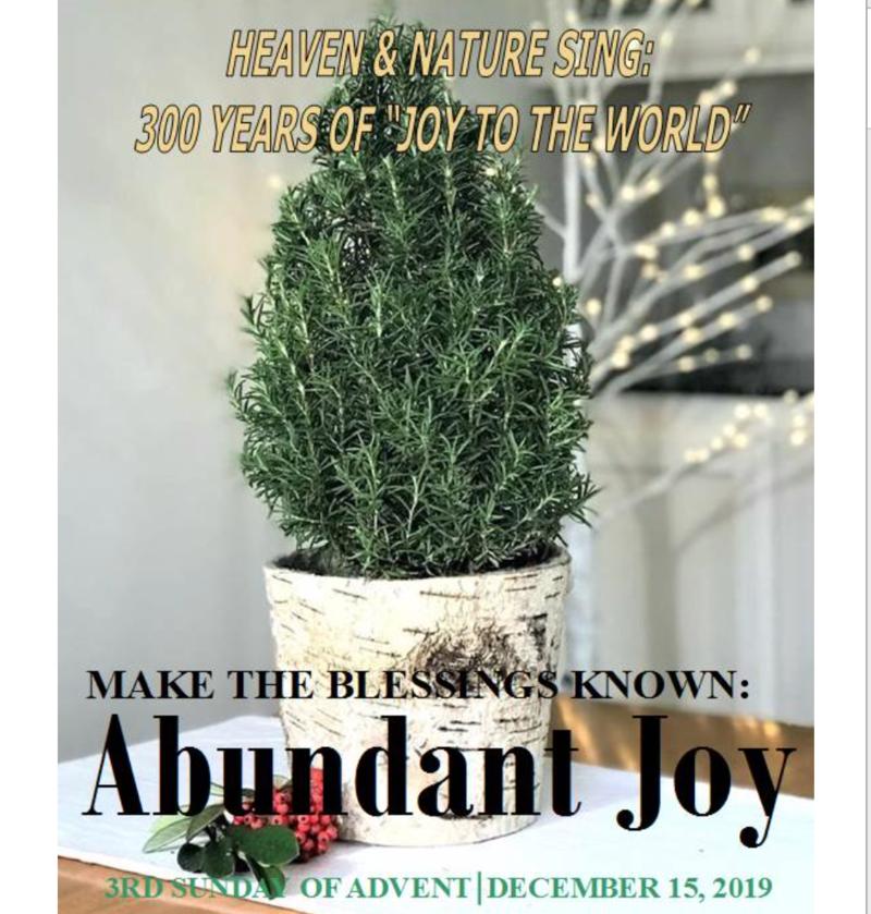 MAKE THE BLESSINGS KNOWN: ABUNDANT JOY