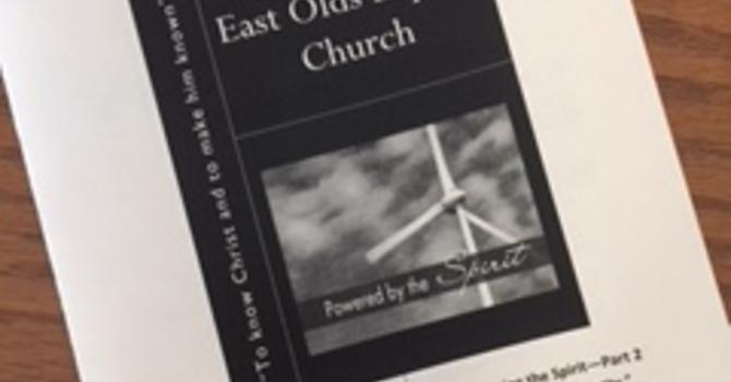April 15, 2018 Church Bulletin image