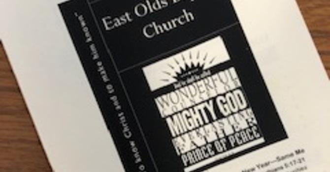 December 30, 2018 Church Bulletin image