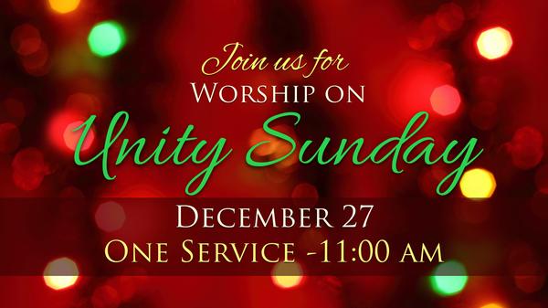 Unity Sunday