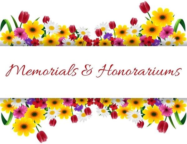 November Memorials and Honorariums
