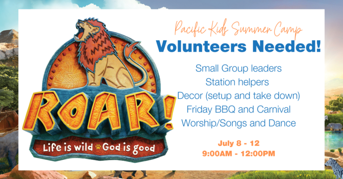ROAR Summer Camp Volunteers Needed!
