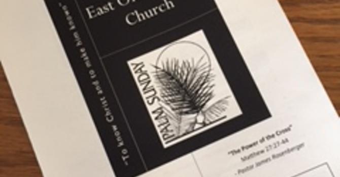 Church Bulletin for April 9, 2017 image