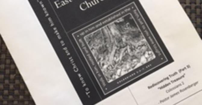 Church Bulletin for January 29, 2017 image