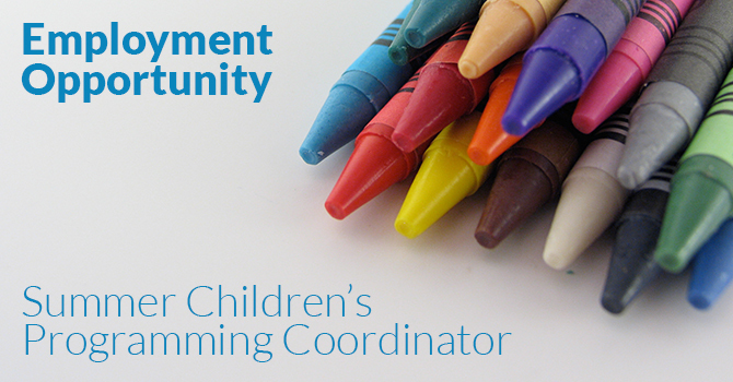 Kids Ministry Employment Opportunity