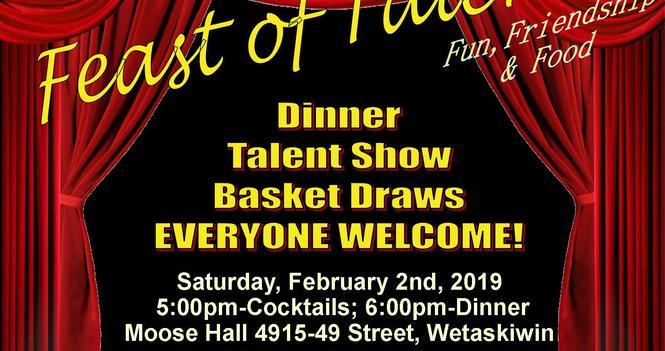Feast of Talents Fundraiser Sat, Feb 2nd, 2019