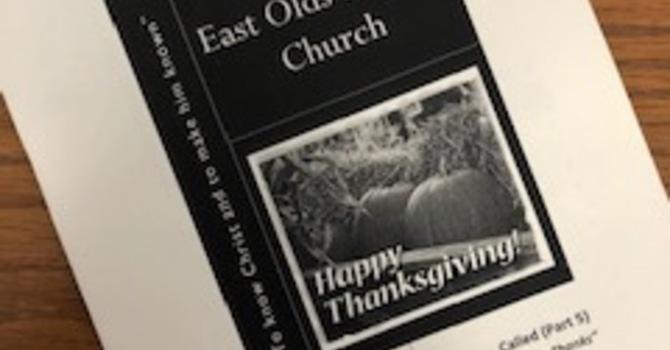 October 13, 2019 Church Bulletin image