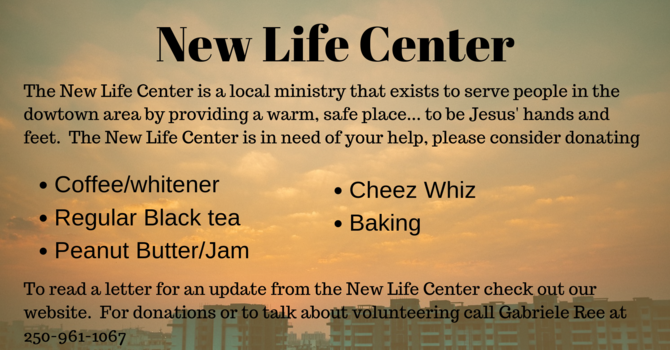 A Letter from The New Life Center image