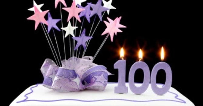 Yvonne's 100th birthday celebration! image
