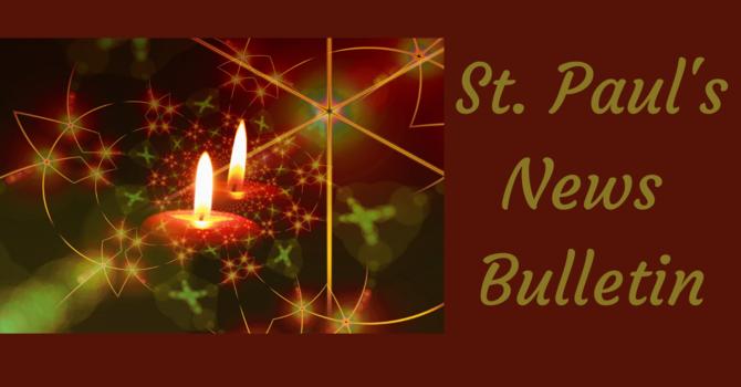 St. Paul's December 6th News Bulletin image