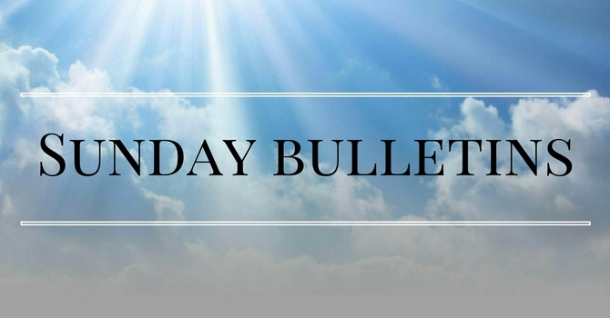 Sunday Bulletins