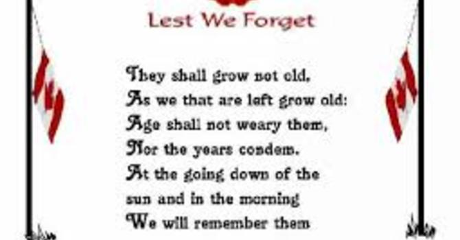 Rememberance Day Sunday image