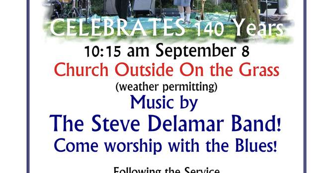Outdoor Service with a Blues Band Launches 140th Anniversary Celebrations image
