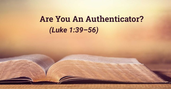 Are You An Authenticator?