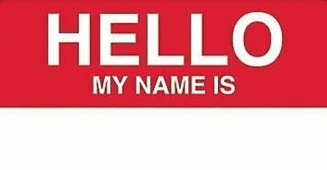 Name tags available image