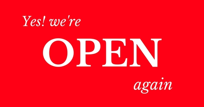 We are open again, praise God! image