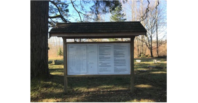 Signage in the Cemetery image