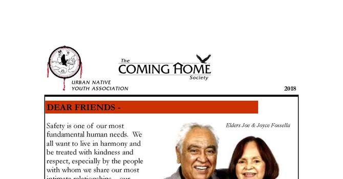 Coming Home Society - Annual Newsletter for 2018