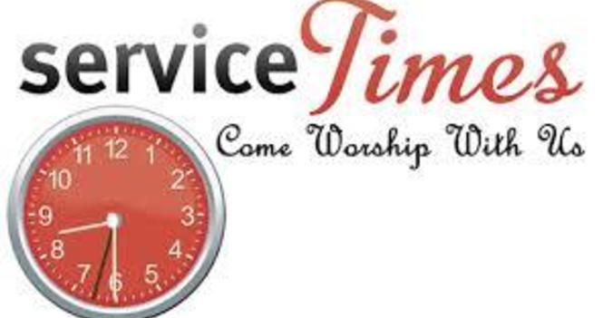 Sunday Service Time